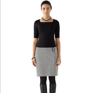 WHITE HOUSE BLACK MARKET HOUNDSTOOTH SHIFT DRESS